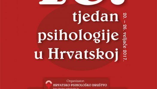 10. tjedan psihologije u Hrvatskoj
