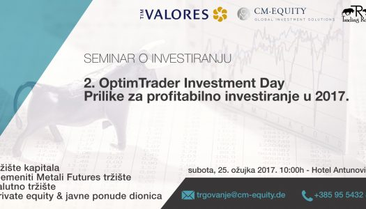 OptimTrader Investment Day-Prilike za profitabilno investiranje