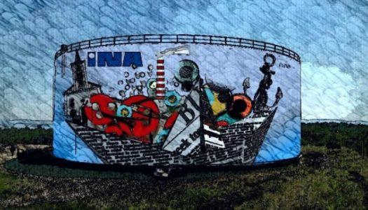 U Kostreni se radi najveći hrvatski mural i to na spremniku rafinerije. Pogledajte kako će izgledati